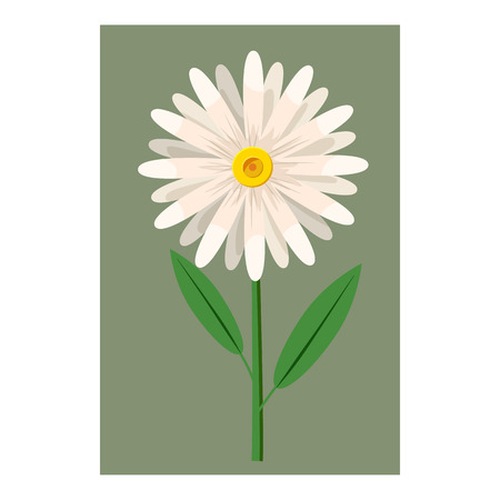 Flower icon in cartoon style isolated on white background. Flora symbol vector illustration