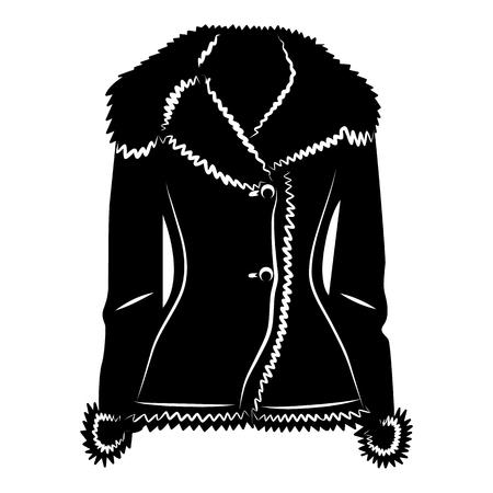 Schapenvacht jas icoon in eenvoudige stijl op een witte achtergrond vector illustratie Vector Illustratie