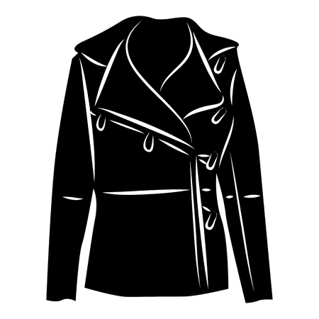 winter jacket: Winter jacket icon in simple style on a white background vector illustration
