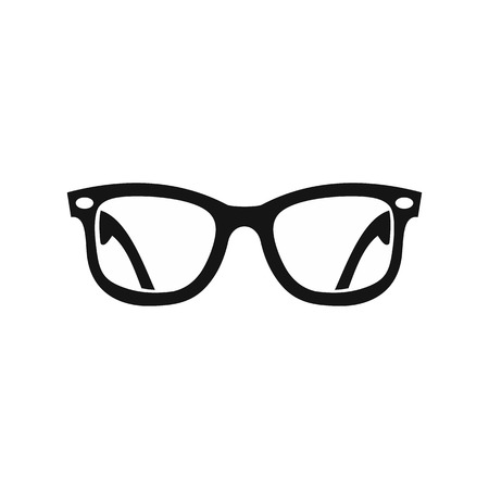 eyeglass: Eyeglasses icon in simple style on a white background vector illustration Illustration