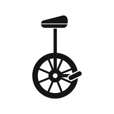 unicycle: Unicycle icon in simple style on a white background vector illustration