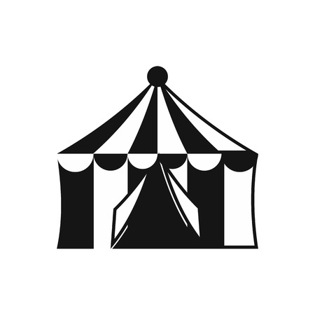 cupola: Circus tent icon in simple style on a white background vector illustration