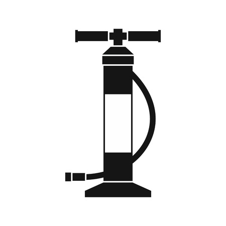 one wheel bike: Hand air pump icon in simple style on a white background vector illustration Illustration