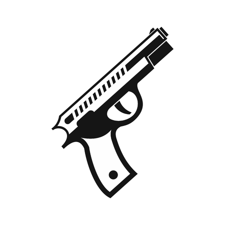 Gun icon in simple style on a white background vector illustration