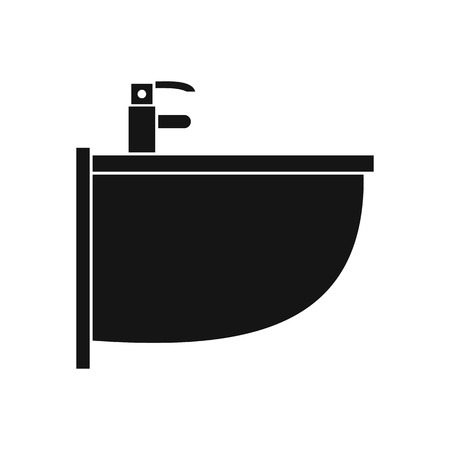 bidet: Bidet icon in simple style on a white background vector illustration