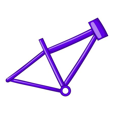 coil: icono de cuadro de la bicicleta en el estilo de dibujos animados aislado en el fondo blanco ilustración vectorial Vectores