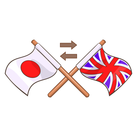 talking dictionary: Translation from japanese to english icon in cartoon style isolated on white background vector illustration