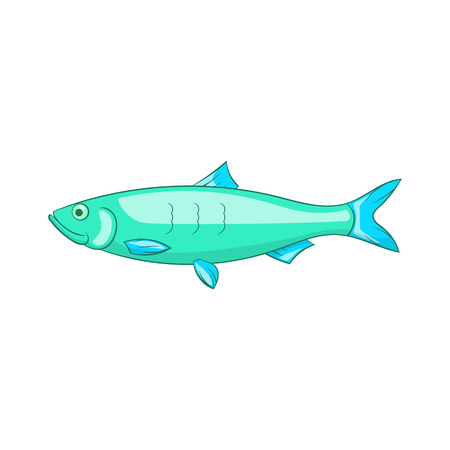 baltic: Baltic herring icon in cartoon style isolated on white background vector illustration Illustration
