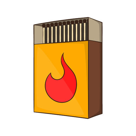 firebug: Box of matches icon in cartoon style isolated on white background vector illustration