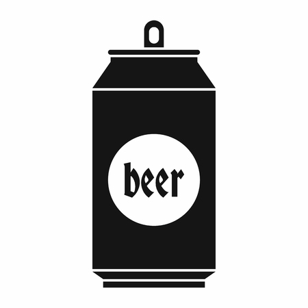aluminum cans: Beer in aluminum cans icon in simple style isolated on white background. Drink symbol Illustration