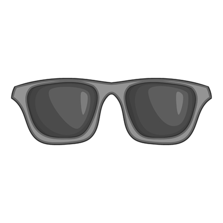 Summer glasses icon in black monochrome style isolated on white background. Sun protection symbol vector illustration