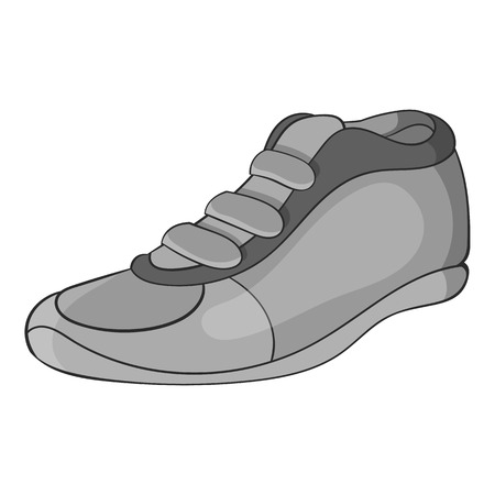 cleats: Cleats icon in black monochrome style isolated on white background. Sport shoes symbol vector illustration Illustration