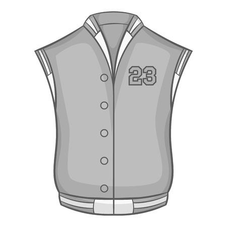 icono chaleco de los deportes en el estilo monocromático negro sobre fondo blanco. Ropa ilustración vectorial símbolo Ilustración de vector