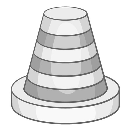 Traffic cone icon in black monochrome style isolated on white background. Fencing symbol vector illustration