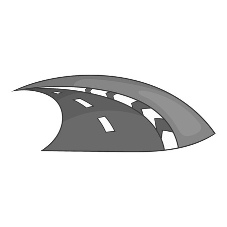 speedway: Speedway icon in black monochrome style isolated on white background. Track symbol vector illustration