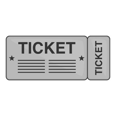 Billet de train icône dans le style monochrome noir isolé sur fond blanc. Way symbole illustration vectorielle Vecteurs