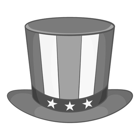 black american: American hat icon in black monochrome style isolated on white background. Headdress symbol vector illustration