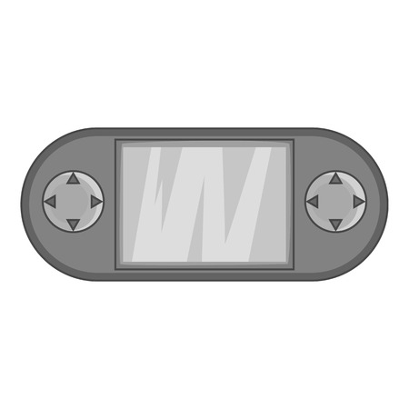 psp: PSP icon in black monochrome style isolated on white background. Play symbol vector illustration