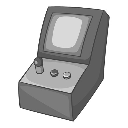 slot in: Slot machine icon in black monochrome style isolated on white background. Play symbol vector illustration