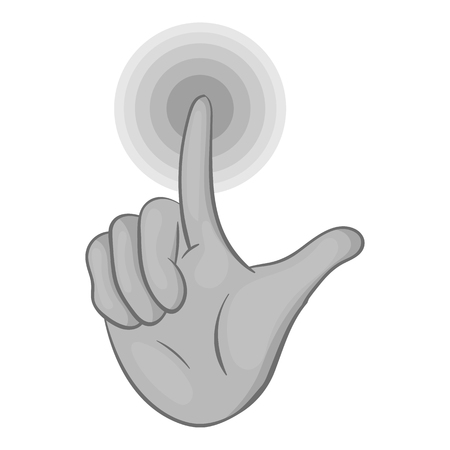 gestural: Gesture idea icon in black monochrome style isolated on white background. Gestural symbol vector illustration