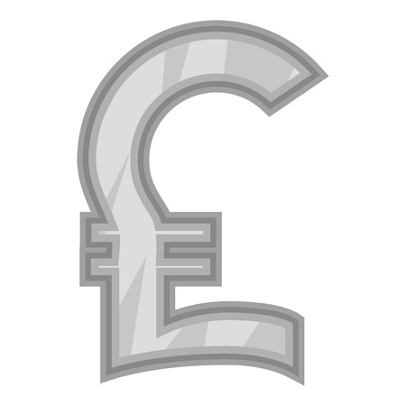 money pound: Sign of money pound sterling icon in black monochrome style isolated on white background. Currency symbol vector illustration