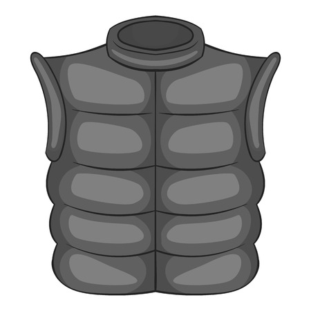 vest in isolated: Mens vest sleeveless icon in black monochrome style isolated on white background. Clothing symbol vector illustration