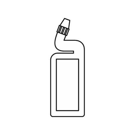 cleaning bathroom: Disinfectant for the bathroom icon in outline style isolated on white background. Cleaning symbol vector illustration