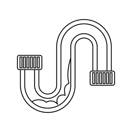 emitter: Clog in the pipe icon in outline style on a white background vector illustration