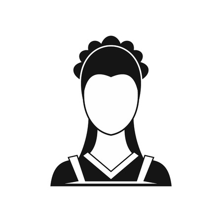 Maid icon in simple style on a white background vector illustration Illustration