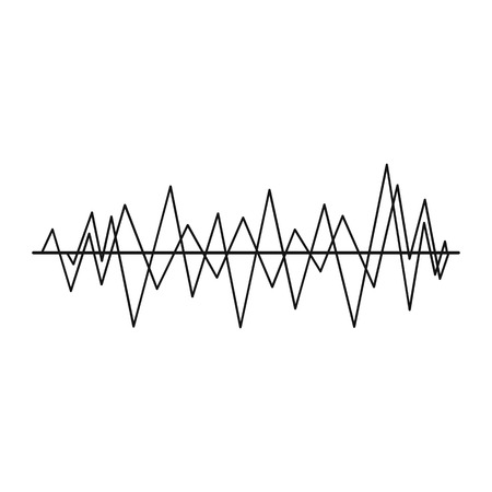 Sound wave icon in simple style on a white background vector illustration Illustration
