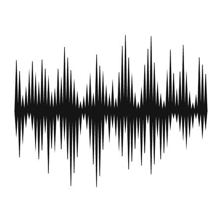 Audio-Digital-Equalizer Technologie Symbol in einfachen Stil auf einem weißen Hintergrund Vektor-Illustration Vektorgrafik