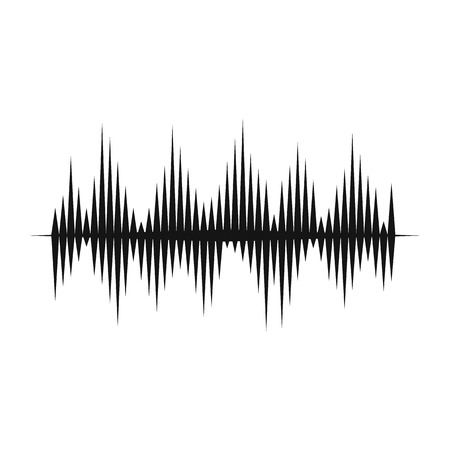 Audio digital equalizer technology icon in simple style on a white background vector illustration Illustration