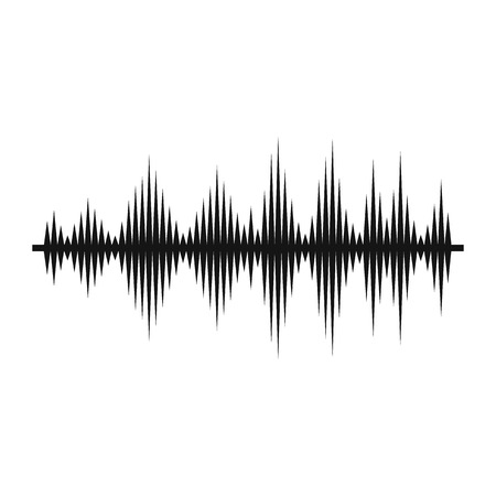 soundtrack: Audio digital equalizer technology icon in simple style on a white background vector illustration Illustration