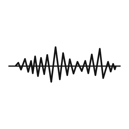 soundtrack: Music sound waves icon in simple style on a white background vector illustration