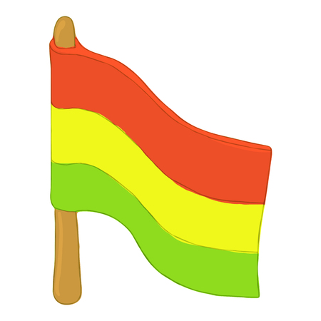 subculture: Flag rastaman icon in cartoon style isolated on white background. Youth subculture symbol vector illustration