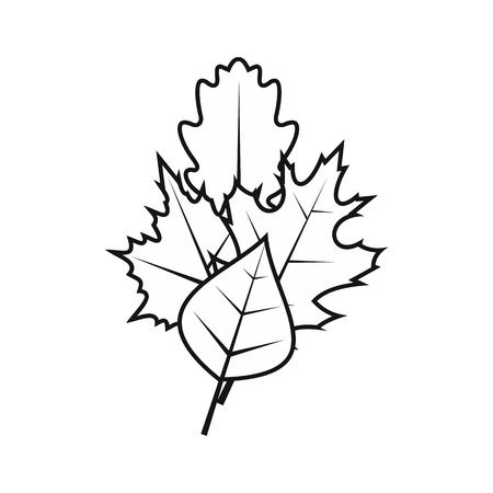 chokeberry: Leaves icon in simple style on a white background vector illustration Illustration