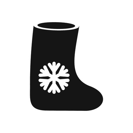 bumpkin: Felt boots icon in simple style on a white background vector illustration