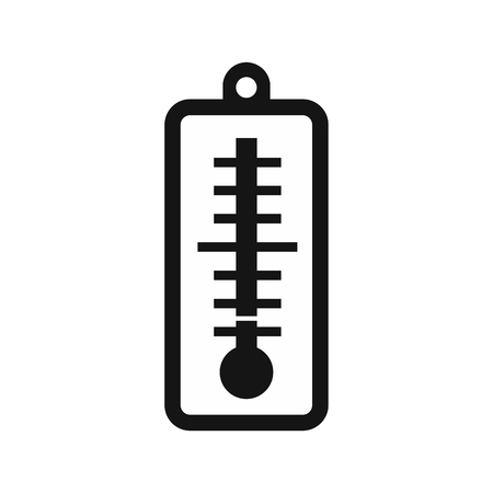 low temperature: Thermometer indicates low temperature icon in simple style on a white background vector illustration
