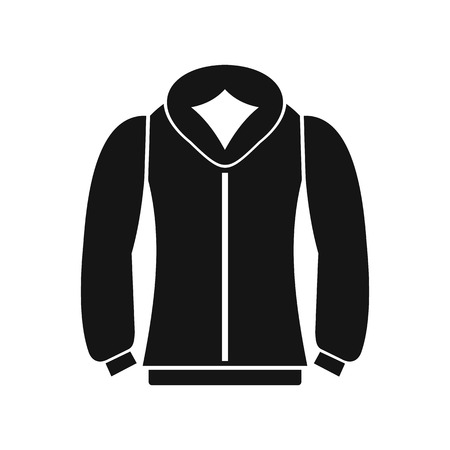 casual hooded top: Sweatshirt icon in simple style on a white background vector illustration