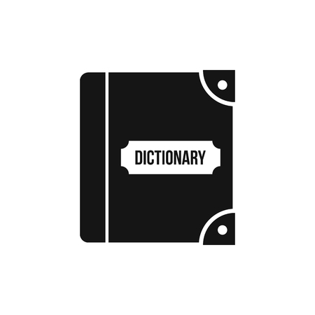 English dictionary: English dictionary icon in simple style on a white background vector illustration