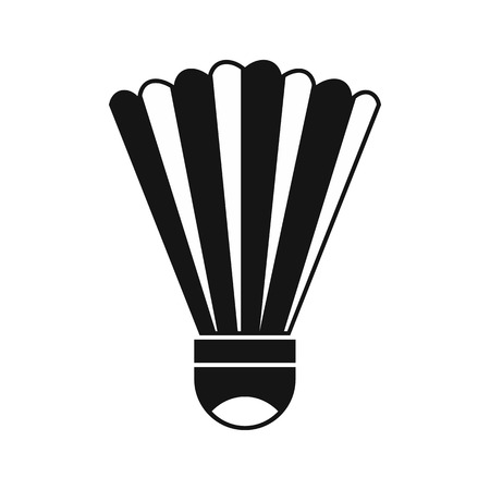 Shuttlecock icon in simple style on a white background vector illustration