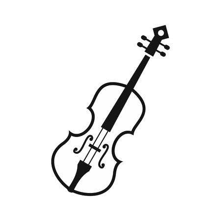 concerto: Cello icon in simple style on a white background vector illustration Illustration