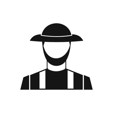 an agronomist: Farmer icon in simple style on a white background vector illustration