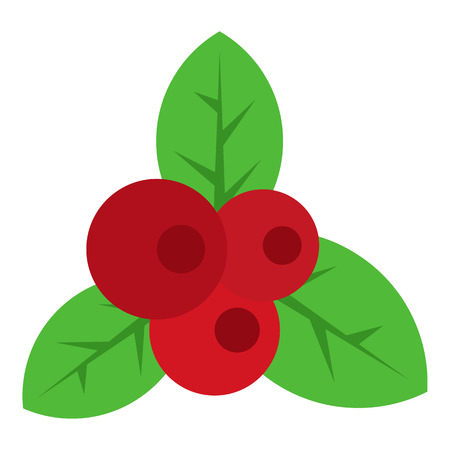 red currant: Red currant icon in flat style isolated on white background. Berry symbol vector illustration