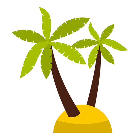 Palm tree icon in flat style isolated on white background. Flora symbol vector illustration Illustration