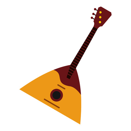 Guitar triangle icon in flat style isolated on white background. Musical instrument symbol vector illustration Illustration