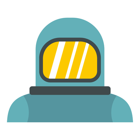 Cosmonaut icon in flat style isolated on white background. Space symbol vector illustration