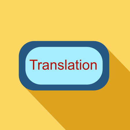 interpretation: Translate button icon in flat style isolated with long shadow vector illustration
