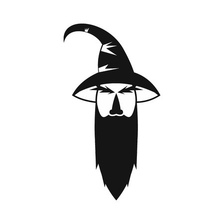 Wizard icon in simple style on a white background vector illustration Illustration