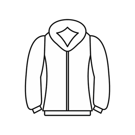 sweatshirt: Sweatshirt icon in outline style on a white background vector illustration